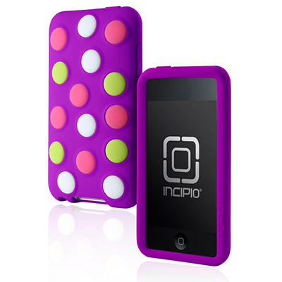 Incipio iPod touch 2G dotties Silicone Case- Purple