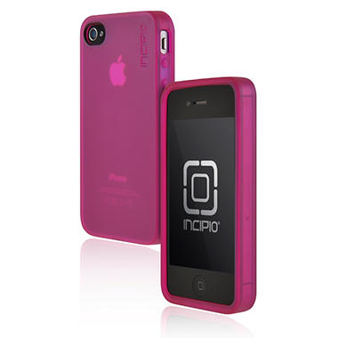 Incipio iPhone 4/4S NGP Matte Semi-Rigid Soft Shell Case - Translucent Pink