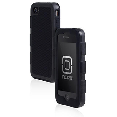 Incipio iPhone 4/4S Destroyer Ultra Hard Shell Case with Silicone Core - Black/Black