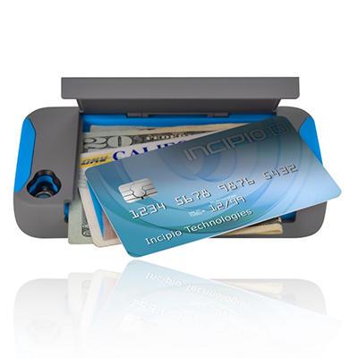 Incipio iPhone 4/4S Stowaway Hard Shell Case - Gray/Blue