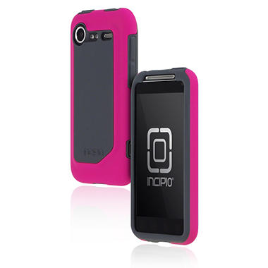 Incipio HTC Incredible 2 Silicrylic Hard Shell Case with Silicone Core-Pink/Gray