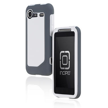 Incipio HTC Incredible 2 Silicrylic Hard Shell Case with Silicone Core-White/Gray