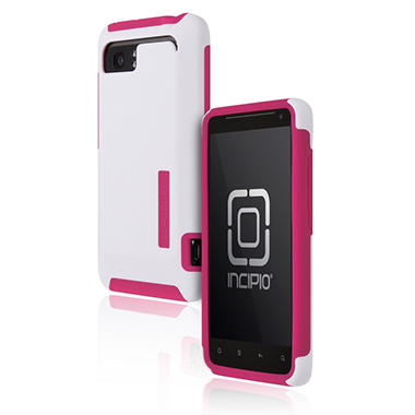 Incipio HTC Vivid SILICRYLIC Hard Shell Case - White/Pink