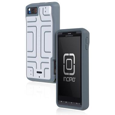 Incipio Motorola Droid X2 Step Semi-Rigid Soft Shell Case - White/Gray