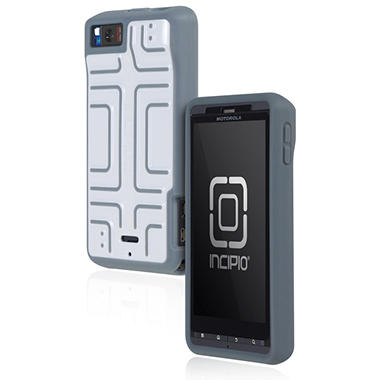 Incipio Motorola Droid X2 Step Semi-Rigid Soft Shell Case - White/Gray