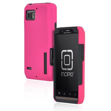 Incipio Motorola DROID BIONIC SILICRYLIC Hard Shell Case with Silicone Core - Pink/Gray