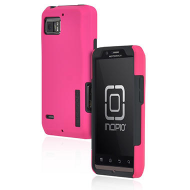 Incipio Motorola DROID BIONIC SILICRYLIC Hard Shell Case with Silicone Core - Pink/Gray