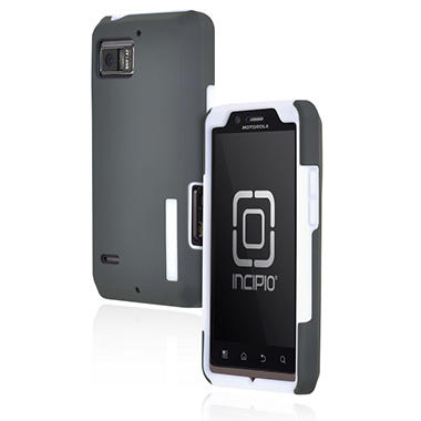 Incipio Motorola DROID BIONIC SILICRYLIC Hard Shell Case with Silicone Core - White/Gray
