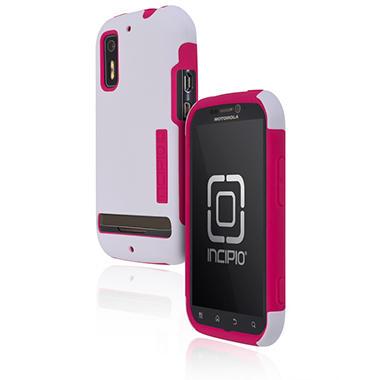 Incipio Motorola Photon 4G / ELECTRIFY SILICRYLIC Hard Shell Case with Silicone Core - White/Pink