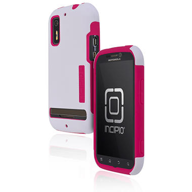Incipio Motorola Photon 4G / ELECTRIFY SILICRYLIC Hard Shell Case with Silicone Core - White/Pink