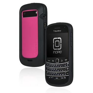 Incipio BlackBerry Bold 9900 9930 DRX Semi-Rigid Soft Shell Case - Black/Pink