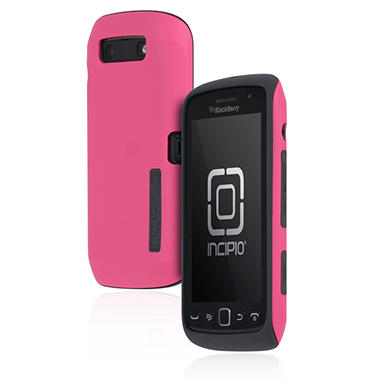 Incipio BlackBerry Torch 9850 9860 SILICRYLIC Hard Shell Case with Silicone Core - Pink/Gray