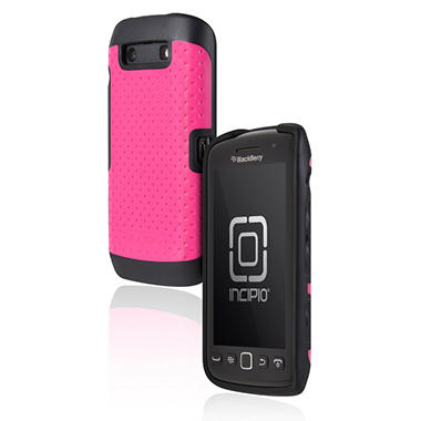 Incipio BlackBerry Torch 9850 9860 DRX Semi-Rigid Soft Shell Case – Black/Pink
