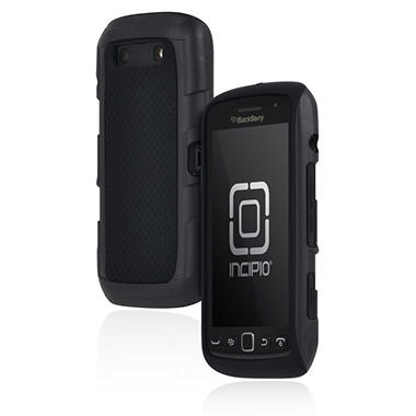 Incipio BlackBerry Torch 9850 9860 Predator Silicone Case with Polycarbonate Frame - Black