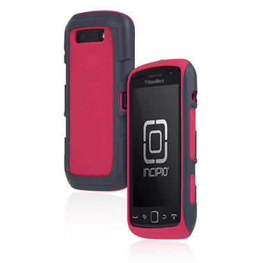 Incipio BlackBerry Torch 9850 9860 Predator Silicone Case with Polycarbonate Frame - Pink/Gray