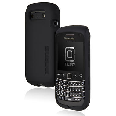 Incipio BlackBerry Bold 9790 SILICRYLIC Hard Shell Case - Black/Black
