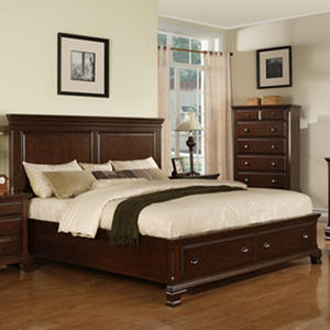 Brinley Cherry Storage Bed (Choose Size)