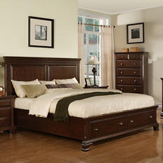 Brinley Cherry King Storage Bed