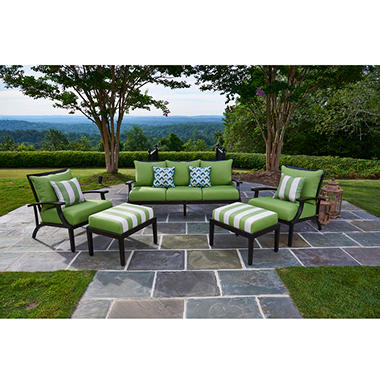 Threshold Belvedere 4 Piece Wicker Patio Conversation Furniture Set With 100