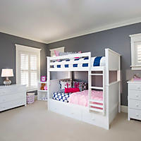 Jackpot! Twin Bunk Bed with Trundle Bed (Assorted Colors)