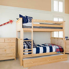 Jackpot! Full Bunk Bed with Trundle Bed (Assorted Colors)