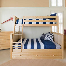 Jackpot! Twin over Full Bunk Bed with Trundle Bed (Assorted Colors)