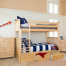 Jackpot! Full Bunk Bed with Storage Drawers (Assorted Colors)