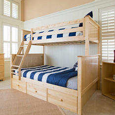 Jackpot! Twin over Full Bunk Bed with Storage Drawers (Assorted Colors)