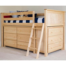 Jackpot! Twin Loft Bed with Dressers, 3-Piece Set (Assorted Colors)