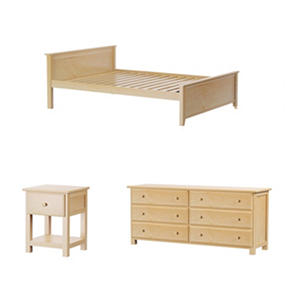 Jackpot! Full Bed with 6 Drawer Dresser + Nightstand Package (Assorted Colors)