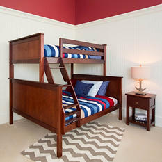Twin over Full Bunk Bed (Assorted Colors)