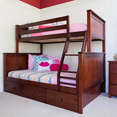 Twin over Full Bunk Bed with Storage Drawers (Assorted Colors)