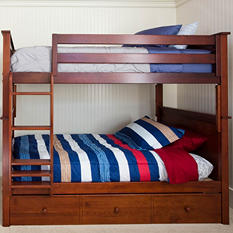 Full Bunk Bed with Trundle Bed (Assorted Colors)