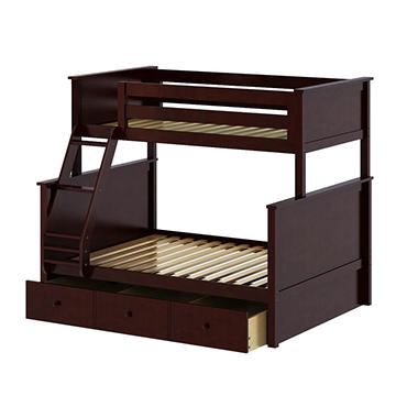 Twin Over Full Bunk Bed With Trundle Bed Assorted Colors