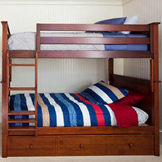 Twin Bunk Bed with Trundle Bed (Assorted Colors)