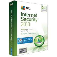 AVG Internet Security + PC TuneUp 2013 - 3-User/1-Yr - PC