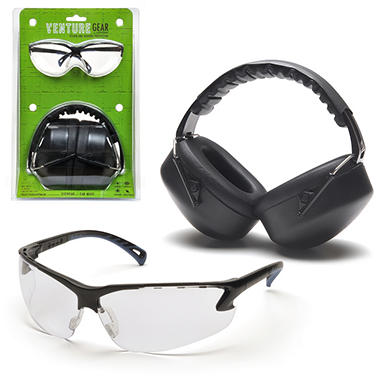 Earmuffs & Eyewear Package - Clear Lens