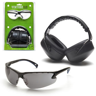 Earmuffs & Eyewear Package - Gray Lens