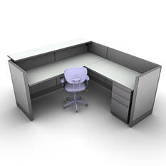SNAP!Office - Task Oriented Work & Reception Station - Concrete Chic Color Combo