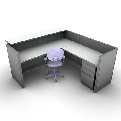 SNAP!Office - Task Oriented Work & Reception Station - Cool Water Color Combo
