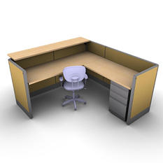 SNAP!Office Task Oriented Work & Reception Station - Desert Scapes Color Combo