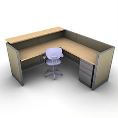SNAP!Office Task Oriented Work & Reception Station - Hardwood Forest Color Combo