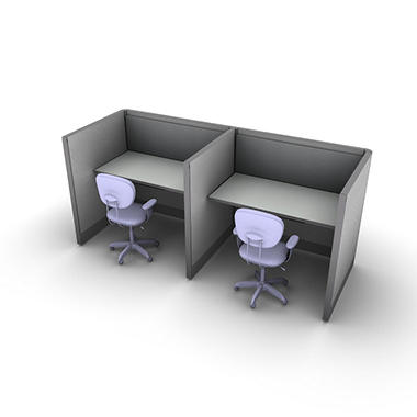 SNAP!Office - 2-Person Basic Workstation - Concrete Chic Color Combo