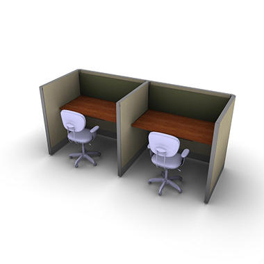 SNAP!Office 2-Person Basic Workstation - Urban Jungle Color Combo