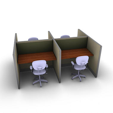 SNAP!Office 4-Person Basic Workstation - Urban Jungle Color Combo