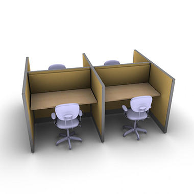SNAP!Office 4-Person Basic Workstation - Desert Scapes Color Combo