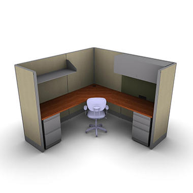 SNAP!Office - 1-Person Management Workstation - Urban Jungle Color Combo