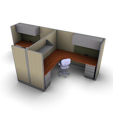 SNAP!Office 2-Person Management Workstation - Urban Jungle Color Combo
