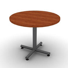 "SNAP!Office 36"" Round Table - Amber Cherry"