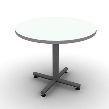 "SNAP!Office 36"" Round Table - Frosty White"